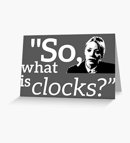 Philomena Cunk: Clocks Greeting Card