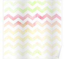 Chevron pattern in spring tones. Poster