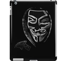 Anonymous vendetta iPad Case/Skin