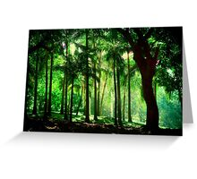 Light in the Jungles. Viridian Greens. Mauritius Greeting Card