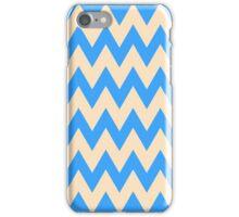 Zigzag #5 - Blue Chevron Pattern iPhone Case/Skin
