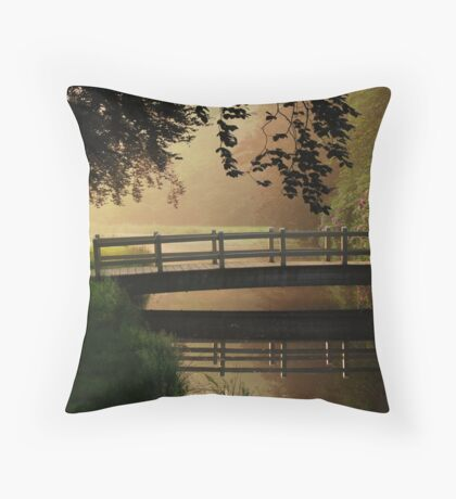 Crossing to dreamland Throw Pillow