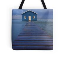 Storm Surge At Crawley Edge Boatshed  Tote Bag