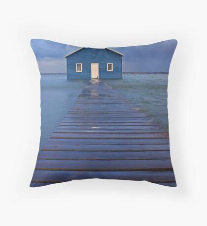 Storm Surge At Crawley Edge Boatshed  Throw Pillow