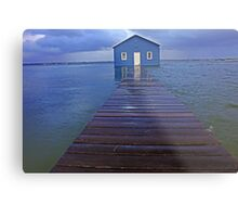 Storm Surge At Crawley Edge Boatshed  Metal Print