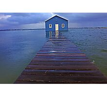 Storm Surge At Crawley Edge Boatshed  Photographic Print
