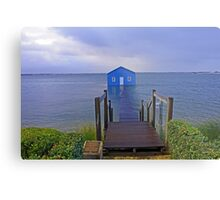 Crawley Edge Boatshed Storm Surge  Metal Print