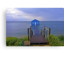Crawley Edge Boatshed Storm Surge  Canvas Print