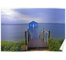 Crawley Edge Boatshed Storm Surge  Poster