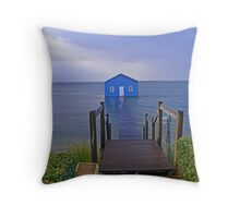 Crawley Edge Boatshed Storm Surge  Throw Pillow