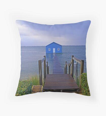 Crawley Edge Boatshed Storm Surge  Throw Pillow