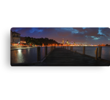 Old Swan Brewery Jetty At Dawn Before The Storm  Canvas Print