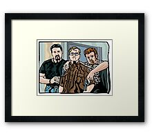 Julian, Bubbles & Ricky Framed Print