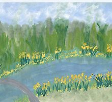 Narcissus along the Banks by Helene Henderson