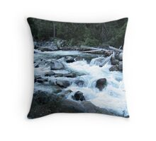 Yosmite Merced River Throw Pillow