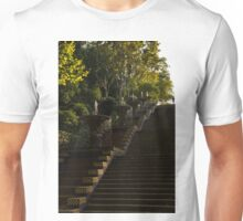 Joyful Blue and Yellow Cascade - Montjuic Park, Barcelona, Spain Unisex T-Shirt