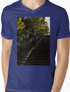 Joyful Blue and Yellow Cascade - Montjuic Park, Barcelona, Spain Mens V-Neck T-Shirt