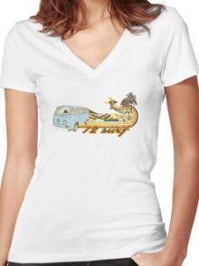 Volkswagen Kombi Tee shirt - 72 Surf Women's Fitted V-Neck T-Shirt