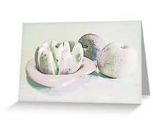 Sliced Apples Greeting Card