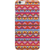 Aztec #10 - Red Pattern iPhone Case/Skin
