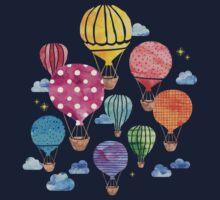 Hot Air Balloon Night Kids Tee