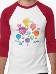 Hot Air Balloon Night Men's Baseball ¾ T-Shirt