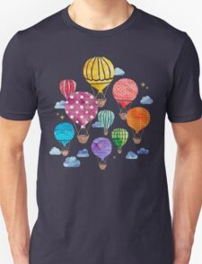 Hot Air Balloon Night Unisex T-Shirt