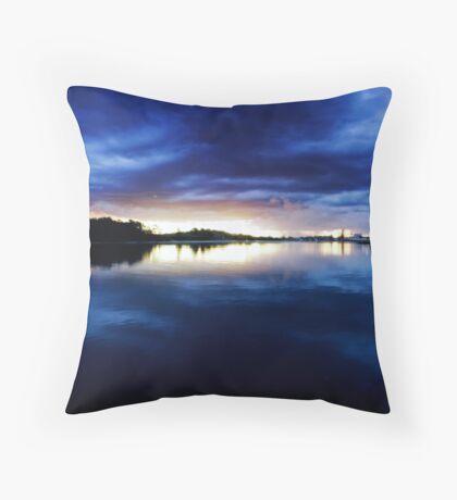 Blue Breckenridge Throw Pillow