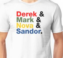 Derek & Mark & Nova & Sandor (Multicolor) Unisex T-Shirt