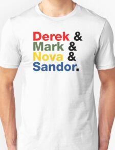 Derek & Mark & Nova & Sandor (Multicolor) T-Shirt