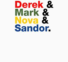 Derek & Mark & Nova & Sandor (Multicolor) Unisex T-Shirt