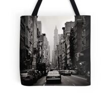 Manhattan avenue in black and white Tote Bag