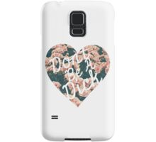 Don't Be a Dick Vintage Floral Heart Design Samsung Galaxy Case/Skin