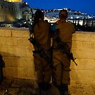 Nighttime in Jerusalem by Larry Glick