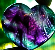 Rainbow heart fluoride  by mandyemblow
