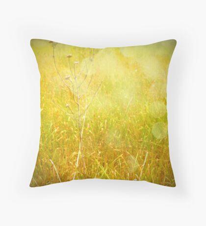 Yellow Morning Throw Pillow
