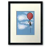 Piglet in the Clouds Framed Print