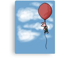 Piglet in the Clouds Canvas Print