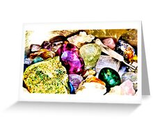 Gemstones for the spirit  Greeting Card
