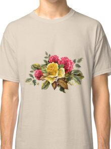 Watercolor rose bouquet Classic T-Shirt