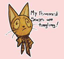 Monique, the feminist cat of color Kids Clothes