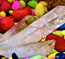 Pebbles and Quartz Shard  by mandyemblow