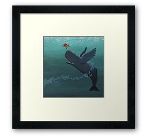 weightless whale Framed Print