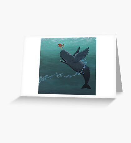 weightless whale Greeting Card