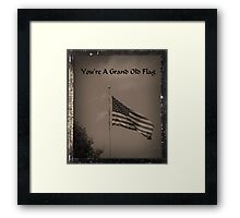You're A Grand Old Flag Framed Print