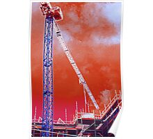 Crane and construction Poster