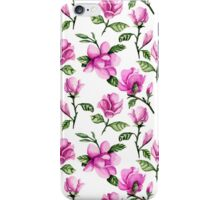 Pink magnolias. Watercolor iPhone Case/Skin
