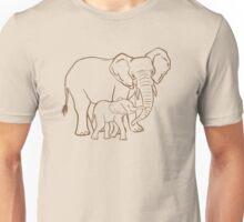 Mother & Baby: Elephant Unisex T-Shirt