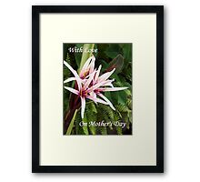 On Mothers Day  Framed Print