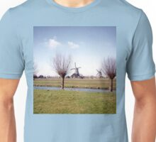 Windmills Working in Volendam, Netherlands Unisex T-Shirt